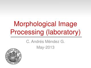 Morphological Image Processing (laboratory)
