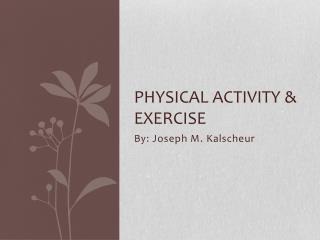 Physical Activity & Exercise