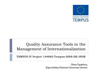 Quality Assurance Tools in the Management of Internationalization