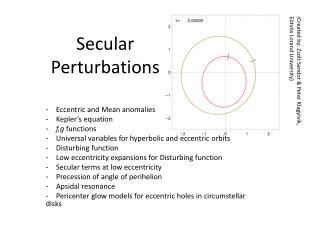 Secular Perturbations