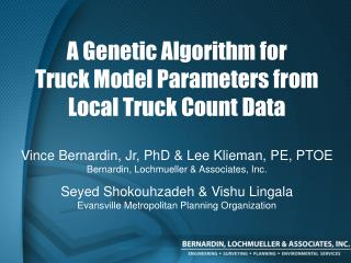 A Genetic Algorithm for  Truck Model Parameters from  Local Truck Count Data