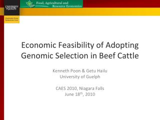 Economic Feasibility of Adopting Genomic Selection in Beef Cattle