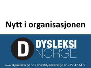 Nytt i organisasjonen