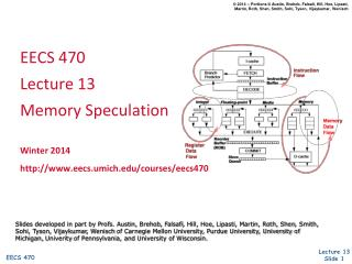 EECS 470 Lecture  13 Memory  Speculation Winter 2014 http ://www.eecs.umich.edu/courses/eecs470