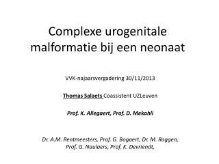 Complexe urogenitale malformatie bij een neonaat