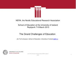 The Grand Challenges of Education