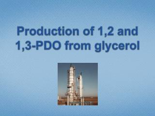 Production  of 1,2 and  1,3-PDO  from glycerol