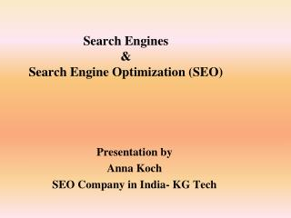 Basics of SEO - SEO Company in India
