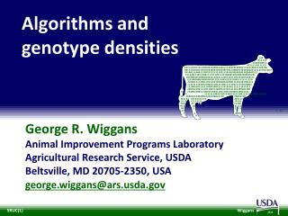 Algorithms and  genotype densities