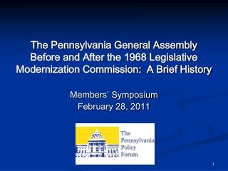 Members' Symposium February 28, 2011