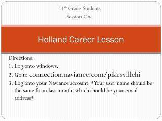 Holland Career Lesson