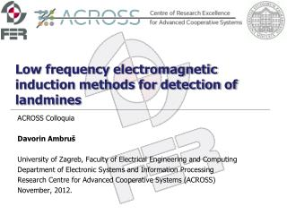 Low frequency electromagnetic induction methods for detection of landmines
