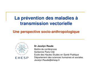 La prévention des maladies à transmission vectorielle