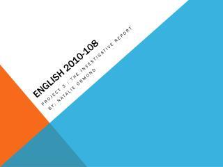 English 2010-108