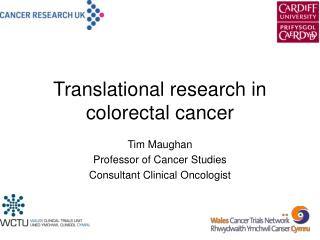 Translational research in colorectal cancer