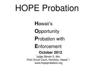 HOPE Probation