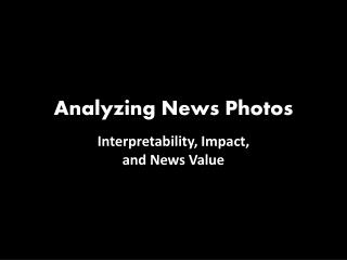 Analyzing News Photos