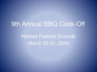 9th Annual BBQ Cook-Off