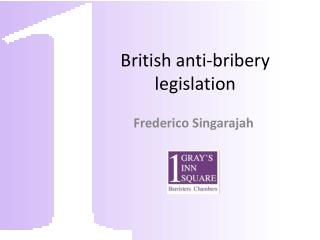 British  anti-bribery  legislation