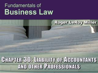 Chapter 30: Liability of Accountants and other Professionals