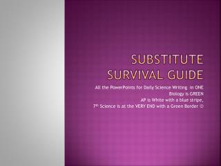 Substitute Survival Guide