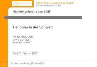 Medienkonferenz  des SGB