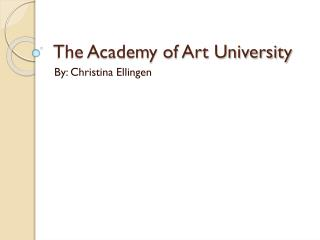 The Academy of Art University