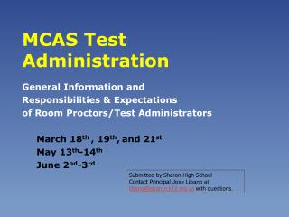 MCAS Test Administration