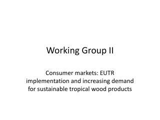 Working Group II