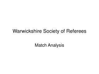 Match Statistics