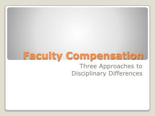 Faculty Compensation