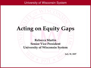 Acting on Equity Gaps