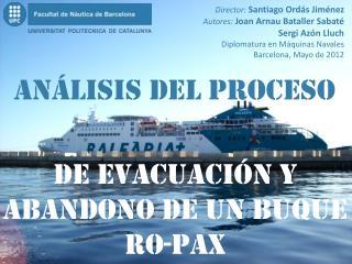 de evacuación  Y abandono De un buque Ro-Pax