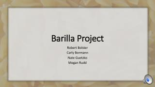 Barilla Project
