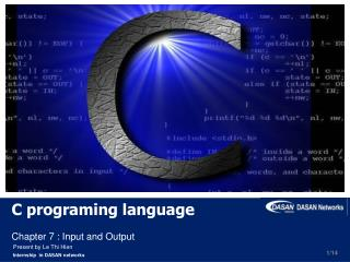 C  programing  language