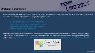 Introduction to programming!