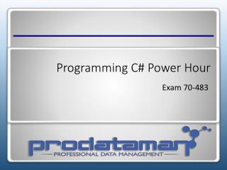 Programming C# Power Hour