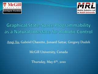 Graphical State-Space Programmability as a Natural Interface for Robotic Control