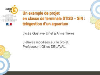 Un exemple de projet en classe de terminale STI2D – SIN : télégestion d'un aquarium
