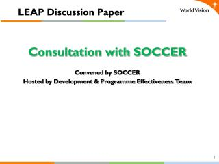 LEAP Discussion Paper
