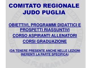 COMITATO REGIONALE JUDO PUGLIA