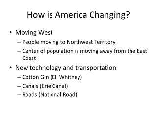 How is America Changing?