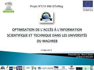 Projet N°510 986  ISTeMag