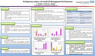 Primiparous Labour: An Audit Of Management & Outcomes