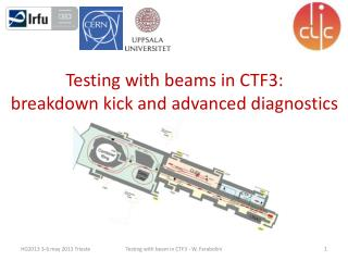Testing with beams in CTF3:  breakdown kick and advanced diagnostics
