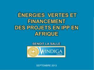 énergies  vertes et financement  des  projets  en  IPP en Afrique