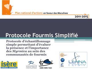 Protocole Fourmis Simplifié