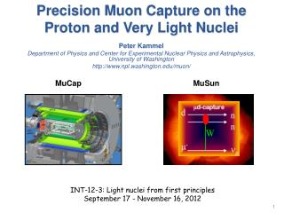 Precision  Muon  Capture on the Proton and Very Light Nuclei