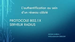 Protocole 802.1x serveur radius
