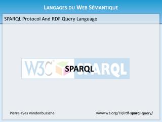 Langages du Web S�mantique